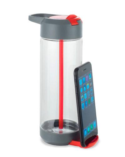 Garrafa Squeeze - Garrafa Squeeze com Porta Celular para Brindes