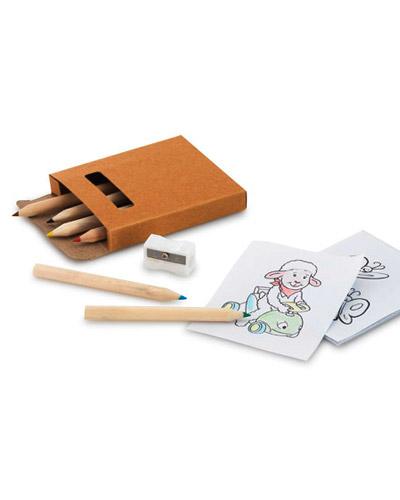 Brindes para Crianças - Kit Lapis de Cor para Colorir Personalizado