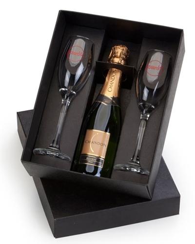 Kit Champagne Personalizado - Kit Mini Champagne com Taças