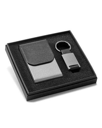 Chaveiro de Couro - Kit porta Cartão com Chaveiro