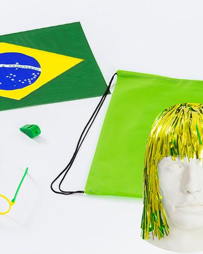 Kit Torcedor - Kit Torcedor do Brasil Personalizado