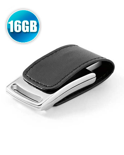 Pen Drive Couro - Pen drive 16 GB em Couro com Imã para Brindes