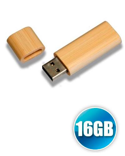 Brindes Personalizados -  Pen drive 16GB de Bambu