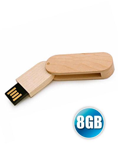 Brindes Personalizados -  Pen drive 8 GB Ecológico Giratório para Brindes