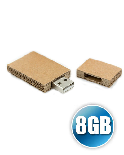 Pen Drive Personalizado - Pen drive 8GB Papel Recilado Personalizado