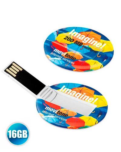 Brindes Personalizados -  Pen drive Cartão Personalizado 16GB