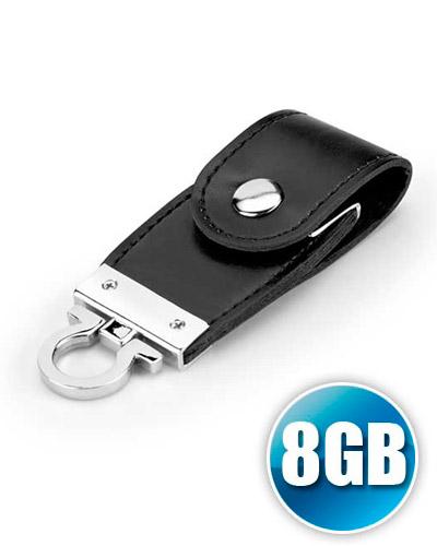 Pen drive Chaveiro 8 gb em Couro