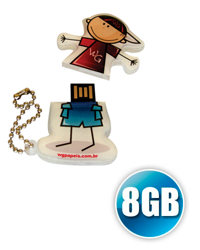 Pen drive Estilizado - Pen drive Customizado 8GB