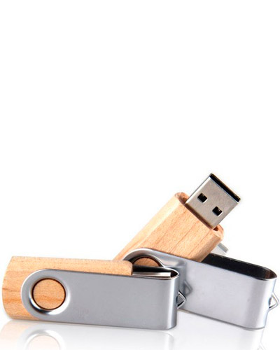 Pen drive Ecológico - Pen drive de Bambu 4 gb  Personalizado