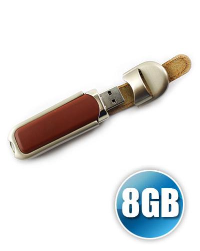 Pen Drive Couro - Pen drive de couro 8GB Personalizado