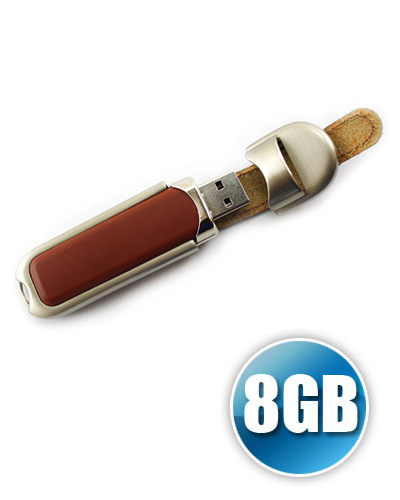 Pen drive de couro 8GB Personalizado