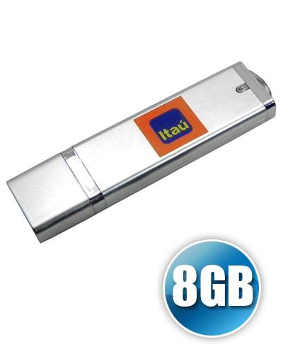 Pen Drive Personalizado - Pen drive DG 8GB com Tampa