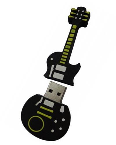 Pen drive Emborrachado - Pen drive Emborrachado Guitarra 2D