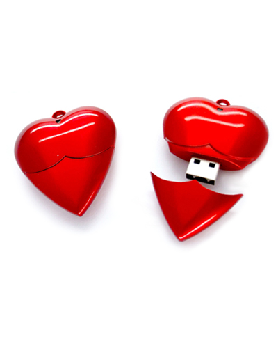 Brindes Personalizados -  Pen drive Promocional Coração