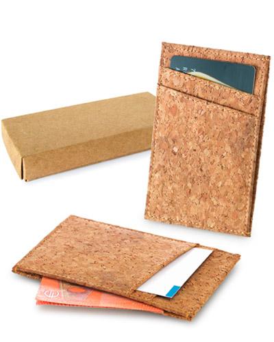Porta Cartão - Porta Cartão de Crédito em Cortiça Personalizado