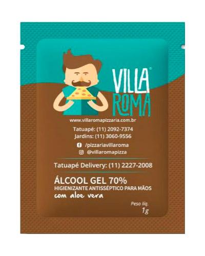 Kit Higiene Personalizado - Sachê de Álcool em gel Personalizado