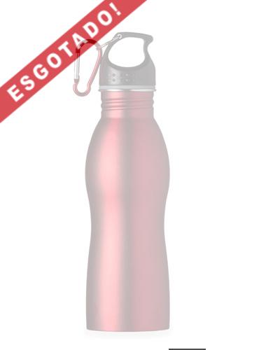 Squeeze Inox - Squeeze de Metal Promocional com mosquetão