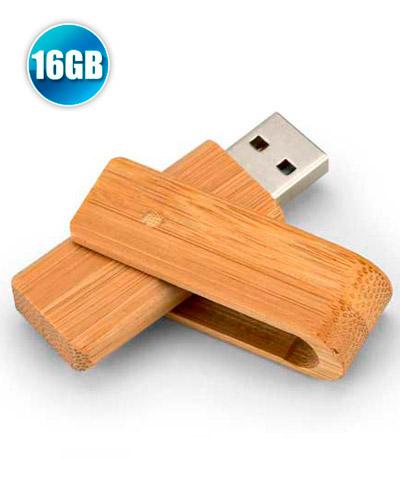 7f52c60d0 Pen drive 16GB Giratório Ecológico Personalizado